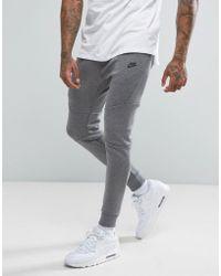 Nike - Tech Fleece Skinny Joggers In Grey 805162-091 - Lyst