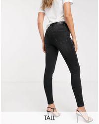 Stradivarius Tall – Jeans mit engem Schnitt und sehr hoher Taille - Schwarz