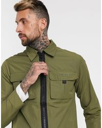 Nicce London Куртка-рубашка Quatro Оливкового Цвета -зеленый