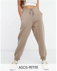ASOS Asos Design Petite Super Oversized jogger - Brown