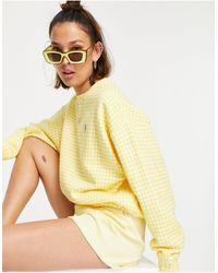 Polo Ralph Lauren Желтый Свитшот В Клетку