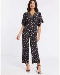 Whistles Edelweiss Button Jumpsuit - Negro