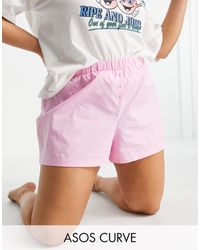 ASOS Asos Design Curve Lounge Woven Boxer Short - Pink