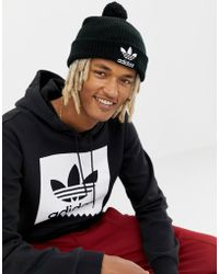 adidas Originals - Pom Pom Beanie In Black D98942 - Lyst