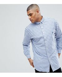 Polo Ralph Lauren - Tall Gingham Check Oxford Shirt In Blue/white - Lyst