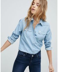 Lee Jeans - Lee Regular Fit Western Denim Shirt - Lyst