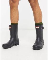 HUNTER Stivali da pioggia corti neri - Nero
