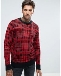 Another Influence - Checked Knitted Jumper - Lyst