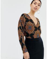 AX Paris Рубашка С Принтом -черный