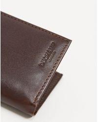 Duchamp Leather Folding Card Holder - Brown