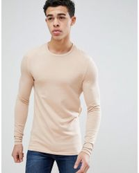 ASOS - Design Muscle Fit Long Sleeve T-shirt With Crew Neck - Lyst