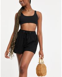 4th & Reckless Lucia Linen Short Co-ord - Black