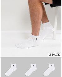 Polo Ralph Lauren Набор Из 3 Пар Белых Спортивных Носков -белый