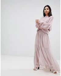 7a4f39343944 French Connection - Sheer Floral Maxi Skirt - Lyst
