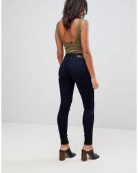Salsa Mystery Bum - Formende Skinny-Jeans mit hohem Bund - Blau