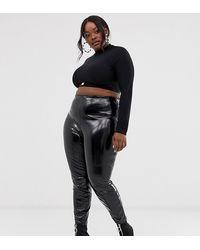 ASOS Asos Design Curve Spray On Vinyl Trouser - Black