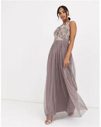 Angeleye Embellished Maxi Dress-purple