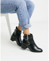 Oasis Boots With Buckle Detail - Black