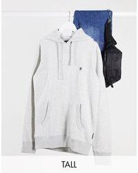 French Connection Tall – er Kapuzenpullover zum Überziehen mit Logo, Kombiteil - Weiß