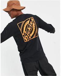 Dickies Fnb - t-shirt à manches longues avec imprimé encadré au dos - Noir