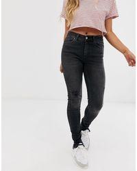 Pieces Delly - Stay Black - Enkellange Skinny Jeans - Zwart