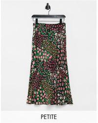 Topshop Unique Bias Midi Skirt - Green