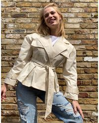 & Other Stories Trench beige con cintura - Neutro
