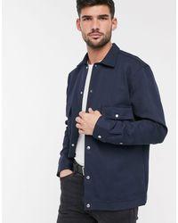 SELECTED Net Twill Overhemd - Blauw