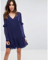 ASOS - Smock Mini Dress - Lyst