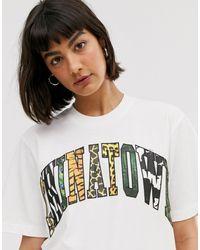 Chinatown Market Boyfriend T-shirt With Animal Infill Graphic - White