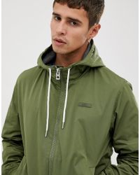 Esprit Hooded Bomber Jacket In Khaki - Green