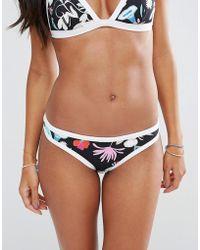 Seafolly - Flower Festival Scuba Bikini Bottom - Lyst