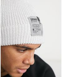 Bershka Beanie With Patch - White