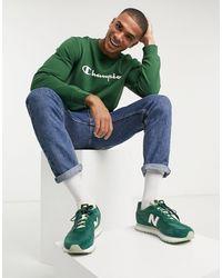 Champion Зеленый Свитшот С Логотипом
