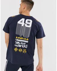 adidas Originals Adidas Training - GRFX - T-shirt con stampa blu navy