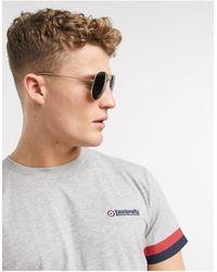 Lambretta Taped Arm T-shirt - Grey