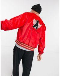 ASOS Actual Wool Varsity Jacket - Red
