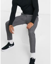 Pull&Bear Tailored Trousers - Grey