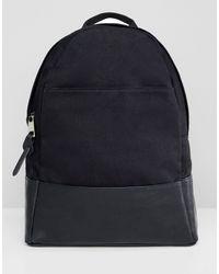 ASOS Большой Парусиновый Рюкзак - Черный
