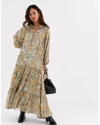 Free People Feeling Groovy Floral Print Midaxi Dress - Red