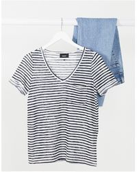 Object Tessi V-neck Stripe T-shirt - Multicolour