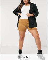 Fashionkilla Knitted Runner Short - Brown