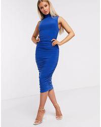 Club L London Ярко-синее Облегающее Платье Мидакси Club L-синий