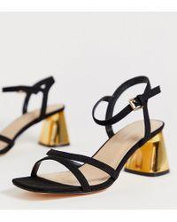 f978278702 Public Desire Coraline Ankle Strap Heeled Sandals in Black - Lyst