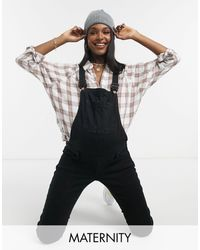 New Look Dungarees - Black
