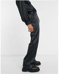 ASOS Wide Leg Smart Trouser - Black