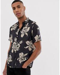 Burton Overhemd Met Hawaii-print - Zwart