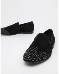 ALDO - Astiaviel Studded Slipper Loafers In Black - Lyst