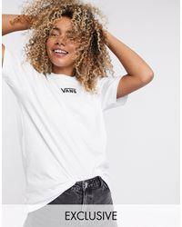 Vans Белая Oversize-футболка С Логотипом На Груди Эксклюзивно Для Asos-белый