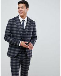 Jack & Jones Приталенный Пиджак В Клетку Premium-темно-синий